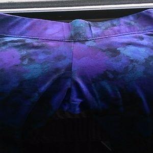 Aeropostale Leggins Yoga Pants Blue Floral SP